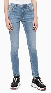 Calvin Klein 卡尔文·克莱恩 女式 中腰修身牛仔裤,Hamptons Blue Light,25X32