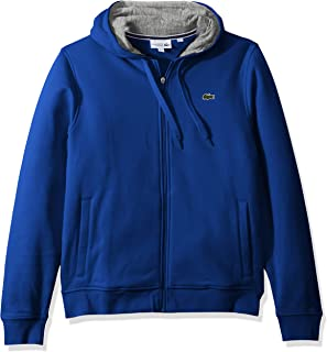 Lacoste Men's Sport Full Zip Brushed Fleece Hooded Sweatshirt