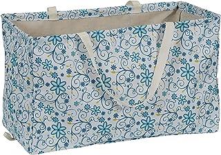 "Household Essentials 2213 Krush 帆布实用手提包 | 可重复使用的购物袋 | 洗衣袋 | 米色 白色 22""L x 11"" W x 13"" H 2244"