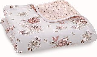 aden + anais Dream 毛毯,* 纯棉平纹细布,4 层轻质透气,大号 119.38 x 119.38 厘米 Dahlias - Dahlias