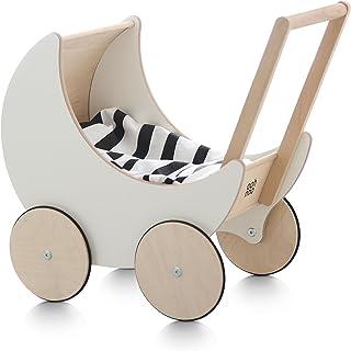 ooh noo(欧诺) 手压车 玩具模型 木制玩具 室内装饰 手工制作 白色