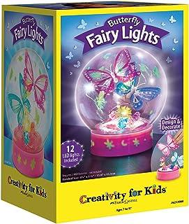 Creativity for Kids 蝴蝶仙女灯光工艺套件 - 为孩子制作 1 个蝴蝶夜灯