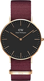 Daniel Wellington 丹尼尔·惠灵顿 经典玫瑰手表 红色 NATO 表带