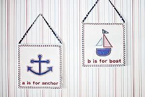 My Baby Sam 3 Piece Ahoy Mate Wall Art