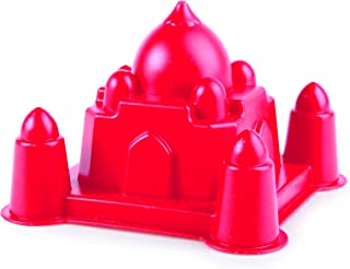 Hape 沙子和太阳埃菲尔铁塔儿童沙滩模具 Taj Mahal 红色