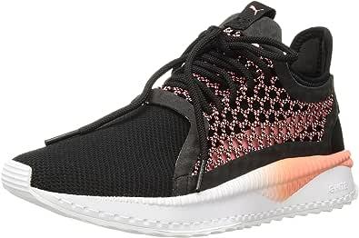 PUMA 女士 Tsugi Netfit WN's 运动鞋 Puma 黑色外壳 粉红色 白色 5.5