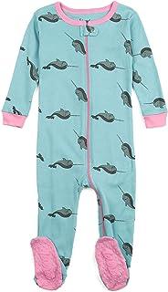 Leveret 女婴连脚睡衣睡衣 * 纯棉 幼童和幼童睡衣(6 个月-5 童装)