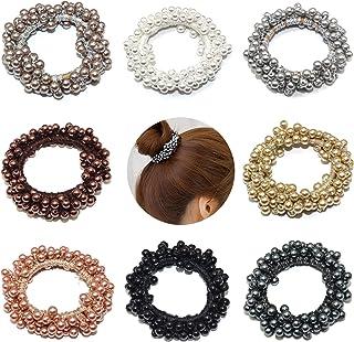 Beautyflier 8 件装珍珠松紧发带发绳发圈发带发圈适用于女性或女孩发饰