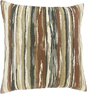 "Pillow Collection Uchenna 条纹欧式枕套地球 ""Multi"" King/20"" x 36"" KING-MER-M9462-EARTH-R56P31"