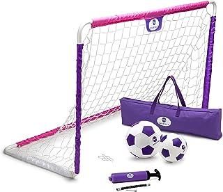 Morvat 高级便携式足球球门套装 | 无尽的乐趣和游戏时间 | 室内和室外 | *,经久耐用