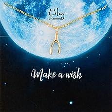 Lily Charmed 英国设计师品牌 许愿骨 925银镀金项链锁骨链 手工打造CNGWB16