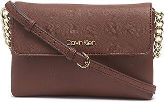 Calvin Klein Hayden 翻盖斜挎包,胡桃木色