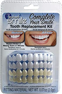 Instant Smile Complete Your Smile 一次性牙齿更换套件 - 几分钟内更换丢失的牙齿 - *