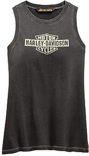 HARLEY-DAVIDSON 官方女式仿旧标志背心,黑色