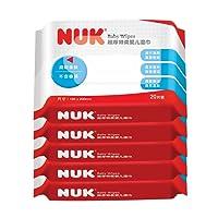 德国NUK超厚特柔婴儿湿巾20片*5连包