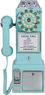 Crosley CR56-AB 1950 年代 Payphone Push Button 技术,水蓝色