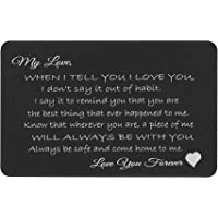 Love You Forever 个性化照片文字雕刻钱包卡片丈夫妻新郎礼物