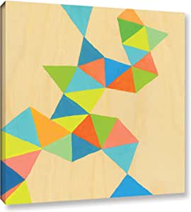 """ArtWall Jan Weiss's Shapes At A Cellular Level 3 Gallery Wrapped Canvas, 14"""" x 14"""""""