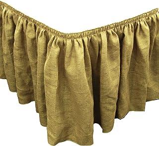 LA Linen 自然粗麻布褶皱桌裙带 15 个大夹子,53.34 cm x 73.66 cm