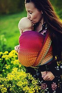 Little Frog 7006 Jacquard 婴儿背巾 尺寸 4 可爱红彩虹 多色 330 克