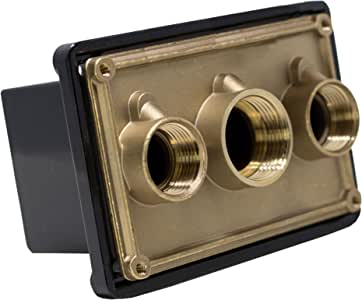 Pentair 78310700 1 英寸黑色接合盒端口替换泳池和 Spa 光系统 黑色 78310700