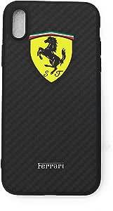 TechGearClothing *法拉利汽车自动设计手机壳适用于 iPhone Iphone X 黑色