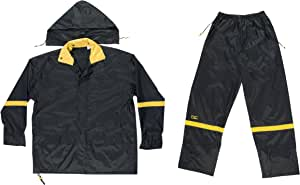 CLC Custom Leathercraft Rain Wear R103X Black Nylon 3-Piece Rain Suit - XLarge