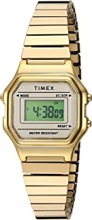 Timex 经典TW2T480009J Digital 不锈钢 金色 TW2T480009J casual-watches