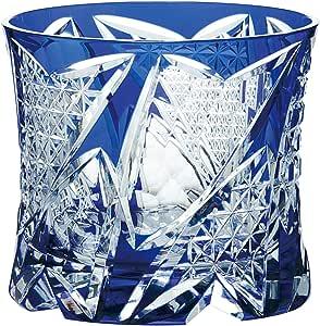东洋佐佐木玻璃 玻璃杯 270ml 八千代切子 (光华) 日本制造 LS19761SAU-C741 蓝色 270ml LS19761SULM-C741