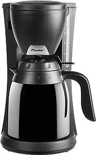 Bestron 咖啡机 带保温壶,适用于研磨过滤咖啡,10杯,800瓦,黑色