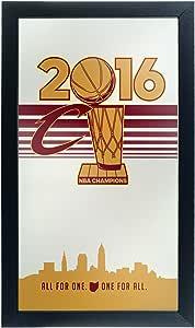 NBA 克利夫兰骑士队 2016 冠军带框标志镜子,*/金色,均码
