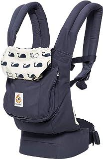 Ergobaby 原创获*人体工程学多位置婴儿背带,带腰部支撑,储物袋 海洋蓝 均码