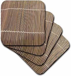 Florene Beige Bamboo Coaster, Soft, Set of 8
