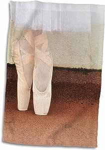 3D Rose 尖头芭蕾舞鞋和浪漫芭蕾舞短裙手巾,15 英寸 x 22 英寸
