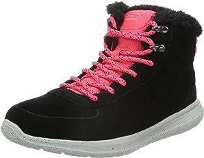 Skechers 斯凯奇 GO WALK CITY系列 女 时尚街头撞色反毛皮毛里保暖高帮休闲鞋 13829C