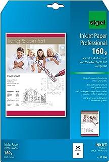 Sigel InkJet 纸专业版,特殊亚光,白色,160 克,A4