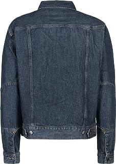 Calvin Klein JEANS 男式 iconic trucker-bowery 蓝色外套