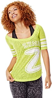 Zumba 女式图案设计透气烂花训练 T 恤