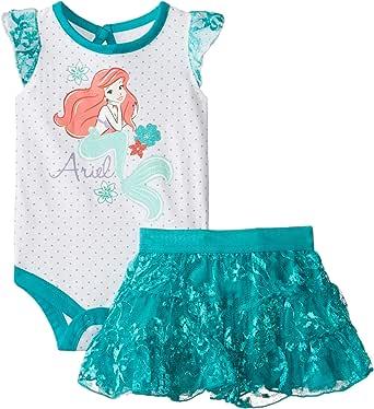 Disney Baby Girls' Little Mermaid Skirt Set, Teal, 6-9 Months