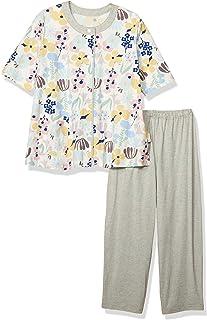 Wacoal 华歌尔 睡衣 6分袖 8分裤 彩色花图案 EP8036 奶油色 日本 L (日本サイズL相当)