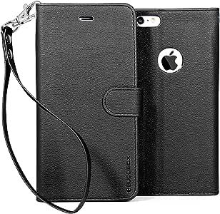 iPhone 6 Plus 钱包式手机壳,BUDDIBOXIP6P-WALLET-WSTRAP-BLACK Black with Wrist Strap