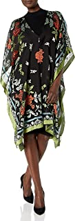 Karen Kane 纹理花卉和服