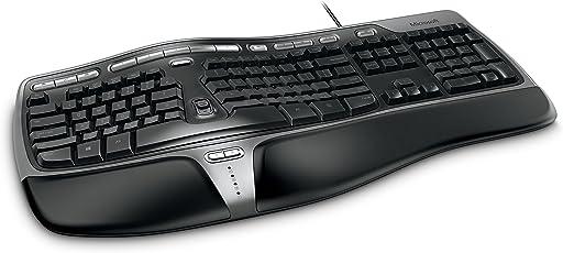 Microsoft微软自然人体工学商用键盘4000