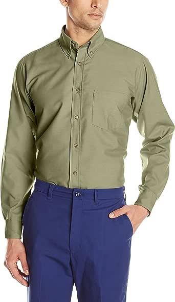 Red Kap 男士府绸正装衬衫 卡其色 323 inch sleeve, Small