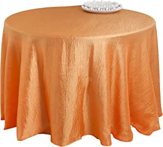 SARO LIFESTYLE LN817 Especial Round Tablecloth Liners, 90-Inch, Persimmon