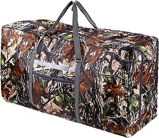 REDCAMP 可折叠超大行李袋 100L / 31英寸(约78.7厘米),轻质旅行行李袋,带可调节肩带,适合男士女士,黑色/深蓝色/红色