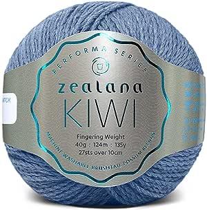 Zealana 40 克 40% 美利奴 30% Possum 30% 棉 Kiwi 手指重量纱,Aurora_P 海洋色 0641752967885