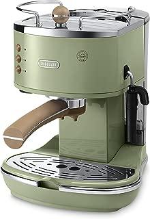 De'Longhi 復古 Icona ECOV310.GR 泵濃咖啡和卡布奇諾咖啡機,1.4 升,1100 瓦 - 綠色