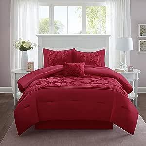 Comfort Spaces Cavoy 羽绒被套 - 3 件 红色 Full/Queen CS12-0284
