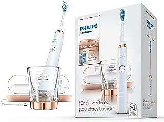 Philips 飞利浦 Sonicare Diamondclean电动牙刷HX9396/89,5种清洁模式声波牙刷,计时器,USB旅行充电器&玻璃充电杯-玫瑰金